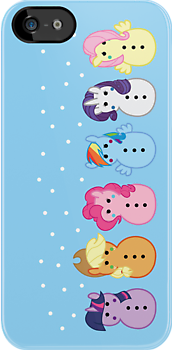 Snowponies iPhone case by Rachael Thomas