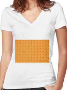 Sidewalk Tile Women's Fitted V-Neck T-Shirt