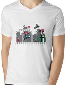 Mecha mario Mens V-Neck T-Shirt