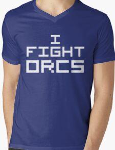 I Fight Orcs (Reversed Colours) Mens V-Neck T-Shirt