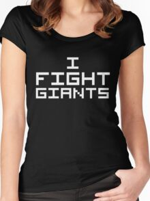I Fight Giants (Reversed Colours) Women's Fitted Scoop T-Shirt
