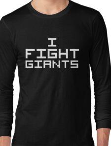 I Fight Giants (Reversed Colours) Long Sleeve T-Shirt