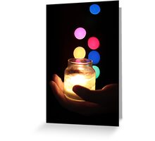 Hand holding a Candle  Greeting Card