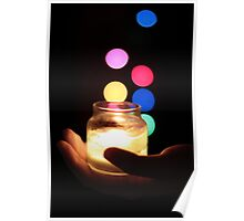 Hand holding a Candle  Poster