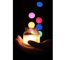 Hand holding a Candle  Photographic Print