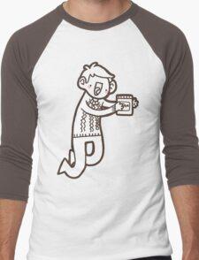 Doodle Jawn Men's Baseball ¾ T-Shirt