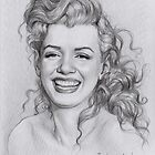 Norma Jeane Baker by thedrawinghands