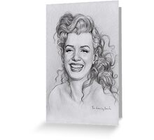 Norma Jeane Baker Greeting Card