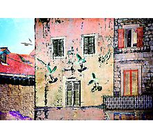 The Essence of Croatia - White Doves in Dubrovnik Photographic Print