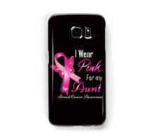 I wear pink for my aun breast cancer Samsung Galaxy Case/Skin