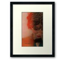 red....... Framed Print