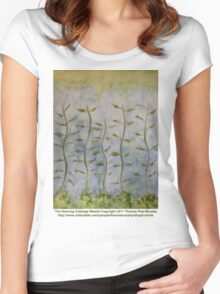 The Dancing Cabbage Weeds Women's Fitted Scoop T-Shirt