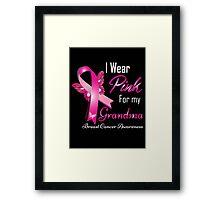 i wear pink for my grandma Framed Print