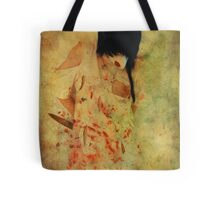 In white - Ashes  Tote Bag