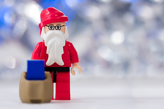 Lego Santa Claus by Kevin  Poulton - aka 'Sad Old Biker'