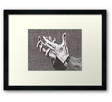 Pleading Hands Framed Print