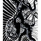 Black and White Octopus by dvampyrelestat