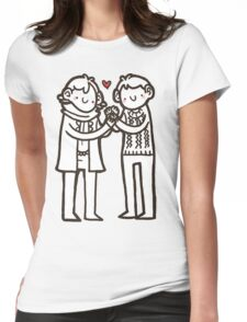 Sherlock and John Womens Fitted T-Shirt