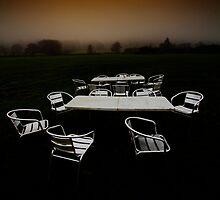...deserted dessert...('al fresco dining', Bakewell, Derbyshire, England, UK) by Russ Styles