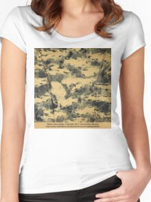 Water Camouflage  Women's Fitted Scoop T-Shirt