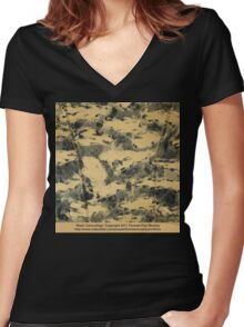 Water Camouflage  Women's Fitted V-Neck T-Shirt