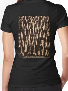 Snow Tree  Women's Fitted V-Neck T-Shirt