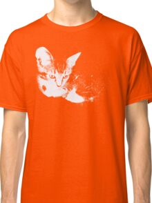 Furry Kitten - One Color Vector Classic T-Shirt