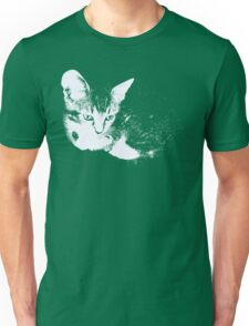 Furry Kitten - One Color Vector Unisex T-Shirt