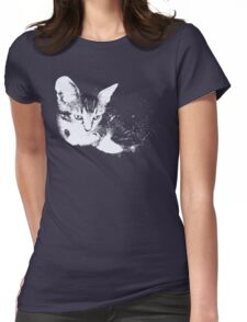 Furry Kitten - One Color Vector Womens Fitted T-Shirt