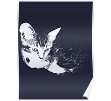 Furry Kitten - One Color Vector Poster