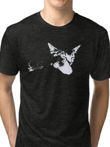 Cat Nap - One Color Vector Tri-blend T-Shirt