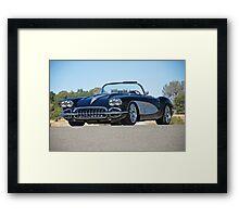 1958 Corvette Roadster 'On Location' II Framed Print
