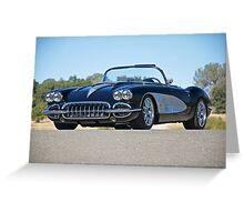 1958 Corvette Roadster 'On Location' II Greeting Card