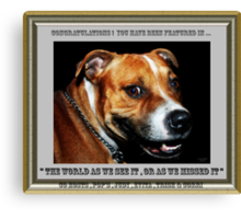""""""" You Sly Dog You """". Group banner . Canvas Print"""