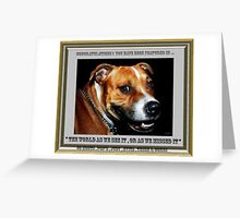 """ You Sly Dog You "". Group banner . Greeting Card"