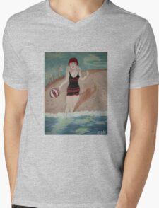 Beach Beauty Mens V-Neck T-Shirt