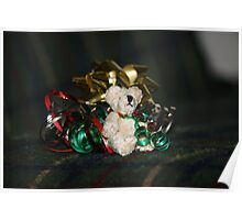 Christmas Teddy Poster