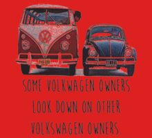 Some VW Owners Look Down Volkswagen One Piece - Short Sleeve