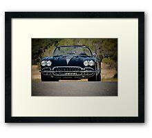 1958 Corvette Roadster 'On Location' III Framed Print
