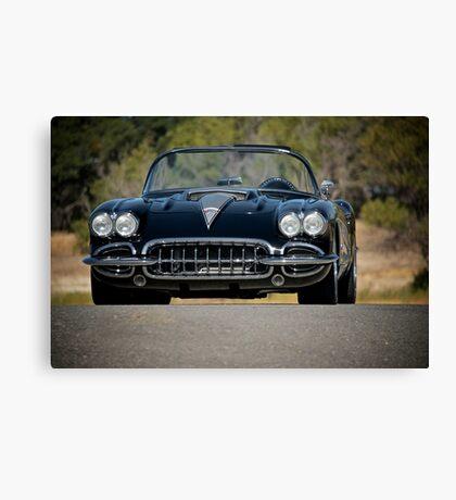 1958 Corvette Roadster 'On Location' III Canvas Print