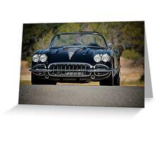 1958 Corvette Roadster 'On Location' III Greeting Card