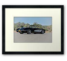 1958 Corvette Roadster 'On Location' IV Framed Print