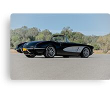 1958 Corvette Roadster 'On Location' IV Canvas Print