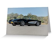 1958 Corvette Roadster 'On Location' IV Greeting Card