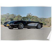 1958 Corvette Roadster 'On Location' IV Poster