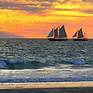 Pearling Luggers at Sunset by Jill Fisher