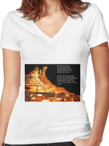 Rumi quote Women's Fitted V-Neck T-Shirt