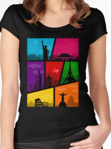 Cities of the World Women's Fitted Scoop T-Shirt