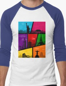 Cities of the World Men's Baseball ¾ T-Shirt