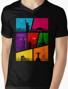 Cities of the World Mens V-Neck T-Shirt